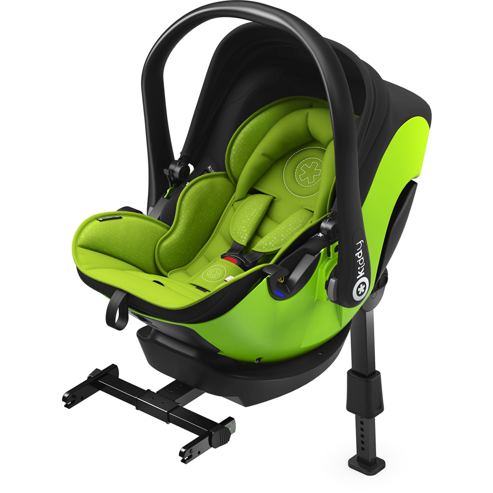si ge auto evoluna i size avec base isofix lime green groupe 0 de kiddy sur allob b. Black Bedroom Furniture Sets. Home Design Ideas