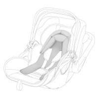 Coussin réducteur prématurés pour siège auto/coque gris