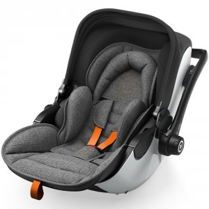 Siège auto evoluna i-size2 avec base grey mélange safe orange - groupe 0+