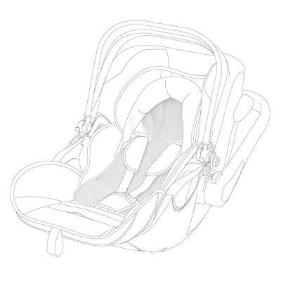 Housse été pour siège auto evoluna i-size Kiddy