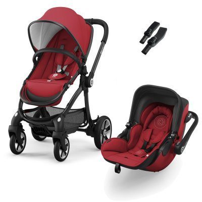 Pack poussette duo evostar + evoluna i-size ruby red Kiddy