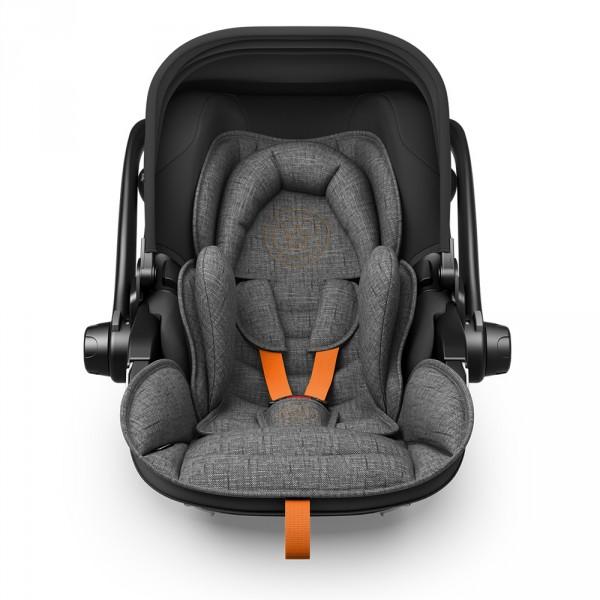 Siège auto evoluna i-size2 avec base grey mélange safe orange - groupe 0+ Kiddy