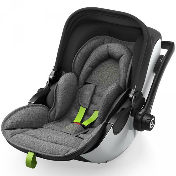 Siège auto evoluna i-size2 avec base grey mélange super green - groupe 0+ Kiddy