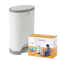 Poubelle à couches anti-odeurs 15 litres + boîte de 3 recharges