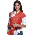 Porte bébé écharpe de portage moby orange pas cher