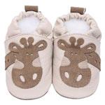Chaussons bébé girafe beige pas cher
