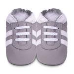 Chaussons bébé sport gris pas cher