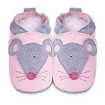 Chaussons bébé souris rose pas cher