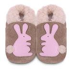 Chaussons bébé lapin rose pas cher