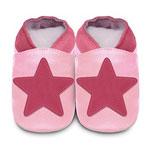 Chaussons bébé etoile rose pas cher