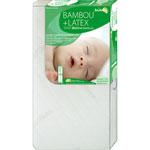 Matelas bébé 60 x 120 cm bambou+ latex bioline pas cher