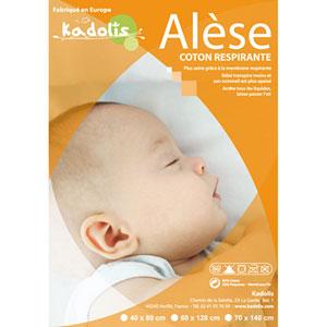 Alèse lit bébé coton prima 70x140 cm