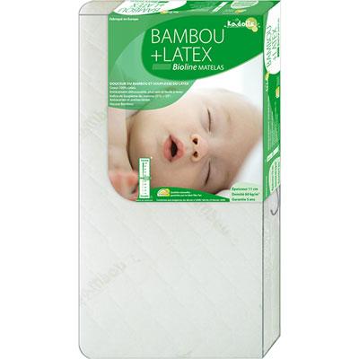 Kadolis Matelas bébé 60 x 120 cm bambou+ latex bioline