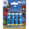 Lot de 4 piles aa/lr6 alkaline pirates Kidsbattery