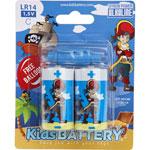 Lot de 2 piles c/lr14 alkaline pirates de Kidsbattery