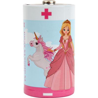 Lot de 2 piles d/lr20 alkaline princesses Kidsbattery