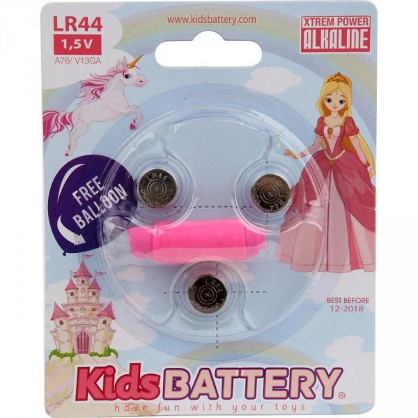 Lot de 3 piles lr 44 alkalie princesses Kidsbattery