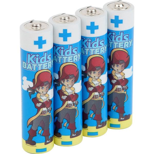 Lot de 4 piles aaa/lr03 alkaline pirates Kidsbattery