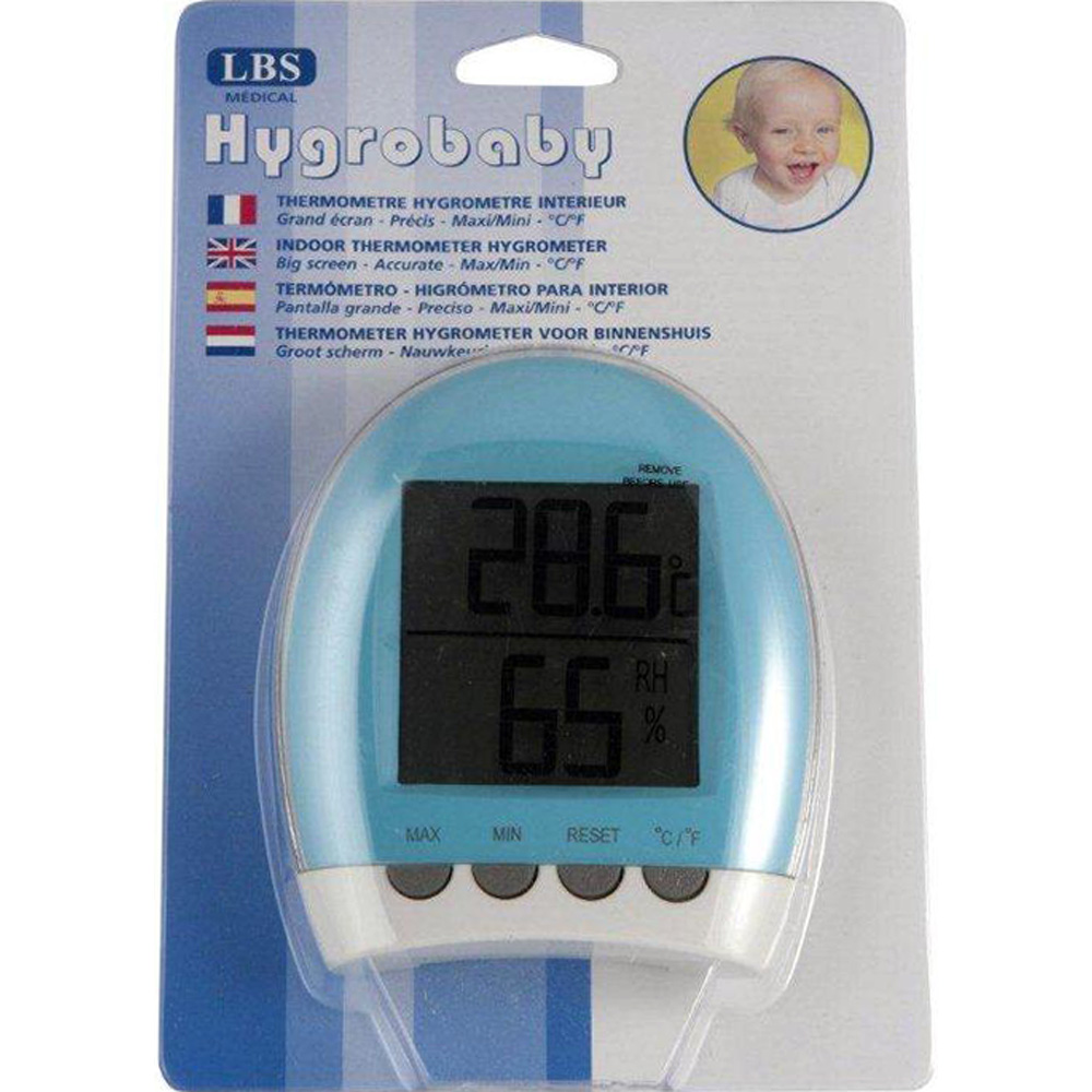 Thermom tre b b hygrom tre d 39 int rieur de lbs medical for Thermometre hygrometre chambre bebe