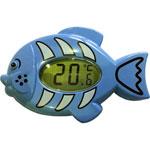 Thermomètre électronique bain et chambre poisson bleu pas cher