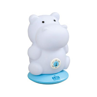 Veilleuse bébé rechargeable multicolore musicale hippopotame
