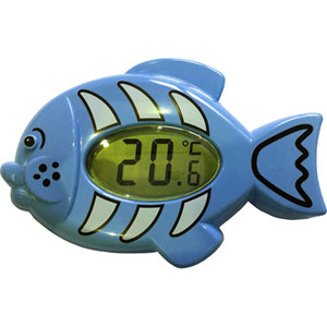 Thermomètre électronique bain et chambre poisson bleu