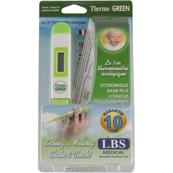 Thermomètre bébé écologique thermogreen sans pile Lbs medical