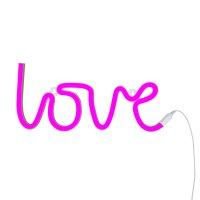 Lampe style néon love - rose