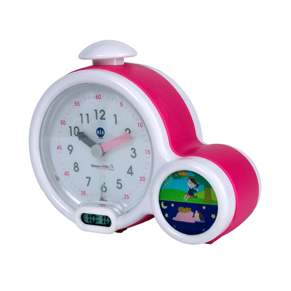 mon premier r veil b b kid sleep clock rose de kid sleep sur allob b. Black Bedroom Furniture Sets. Home Design Ideas