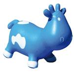 Porteur bébé betsy la vache bleu et blanc pas cher