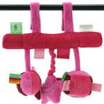 Jouet de lit bébé arche suspendue rose/fushia pas cher
