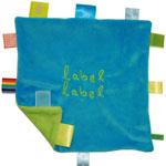Doudou stars label label bleu vert pas cher