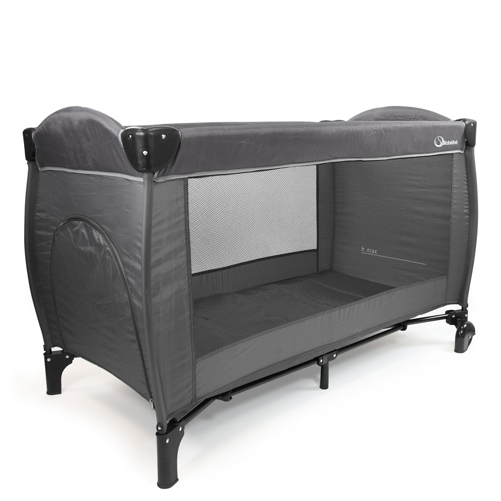 lit pliant luxe grey de allobebe sur allob b. Black Bedroom Furniture Sets. Home Design Ideas
