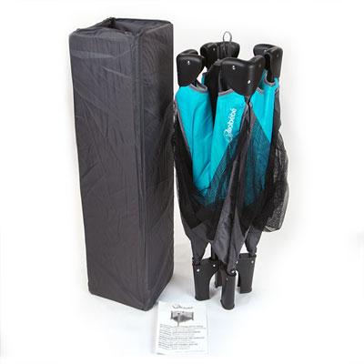 Parc pliant gris/turquoise 90 x 90 cm Allobebe