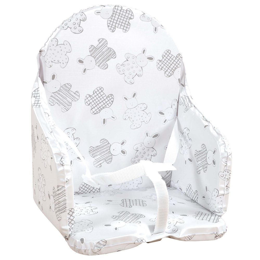 Coussin de chaise avec sangle lapin pyjama de looping sur for Housse de chaise carrefour