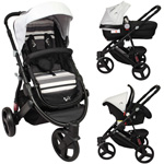 Poussette trio oakland 2 black collection pas cher