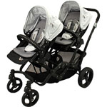 Poussette double twin black emotion pas cher
