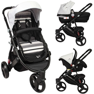 Poussette combiné trio oakland 2 black collection