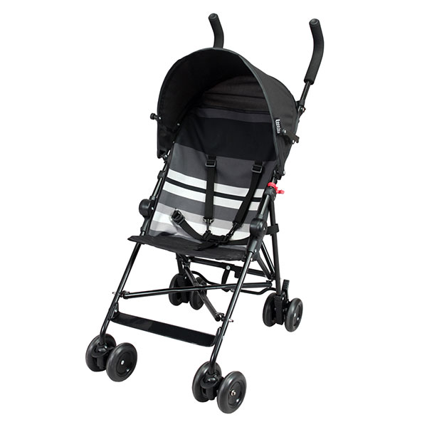 Poussette canne fixe avec canopy black lines Looping