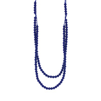 Collier rainbow loom necklace navy