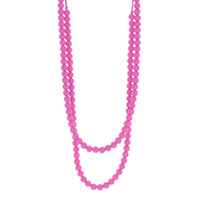 Collier rainbow loom necklace pink