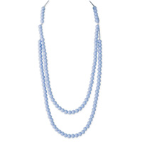 Collier rainbow loom necklace pastel blue
