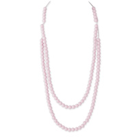 Collier rainbow loom necklace powder pink