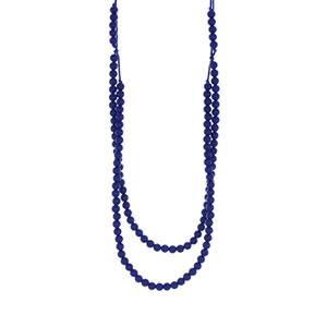 Collier rainbow loom necklace navy
