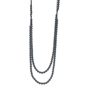 Collier rainbow loom necklace dimgray