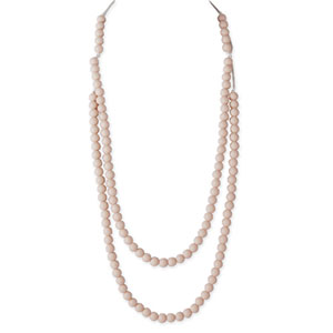 Collier rainbow loom necklace oatmeal