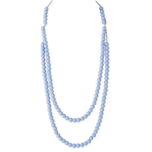 Collier rainbow loom necklace pastel blue