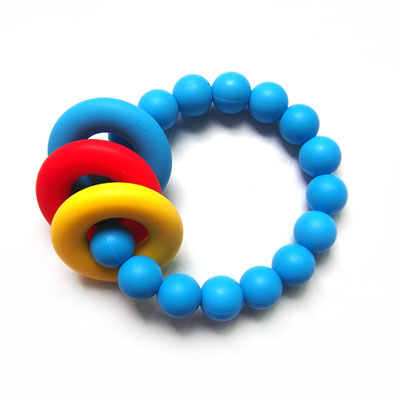 Bracelet donut teether deep skyblue Lollipops and more