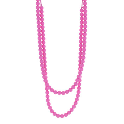 Collier rainbow loom necklace pink Lollipops and more