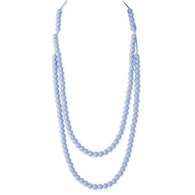 Collier rainbow loom necklace pastel blue Lollipops and more